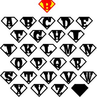 superheld letters