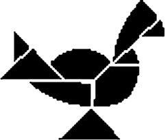 tangram-kip - thema lente/pasen - Lespakket