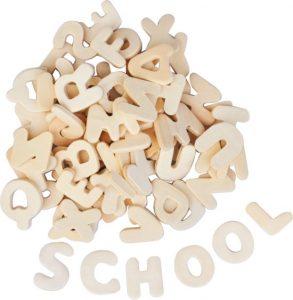 houten letters - Juf Bianca