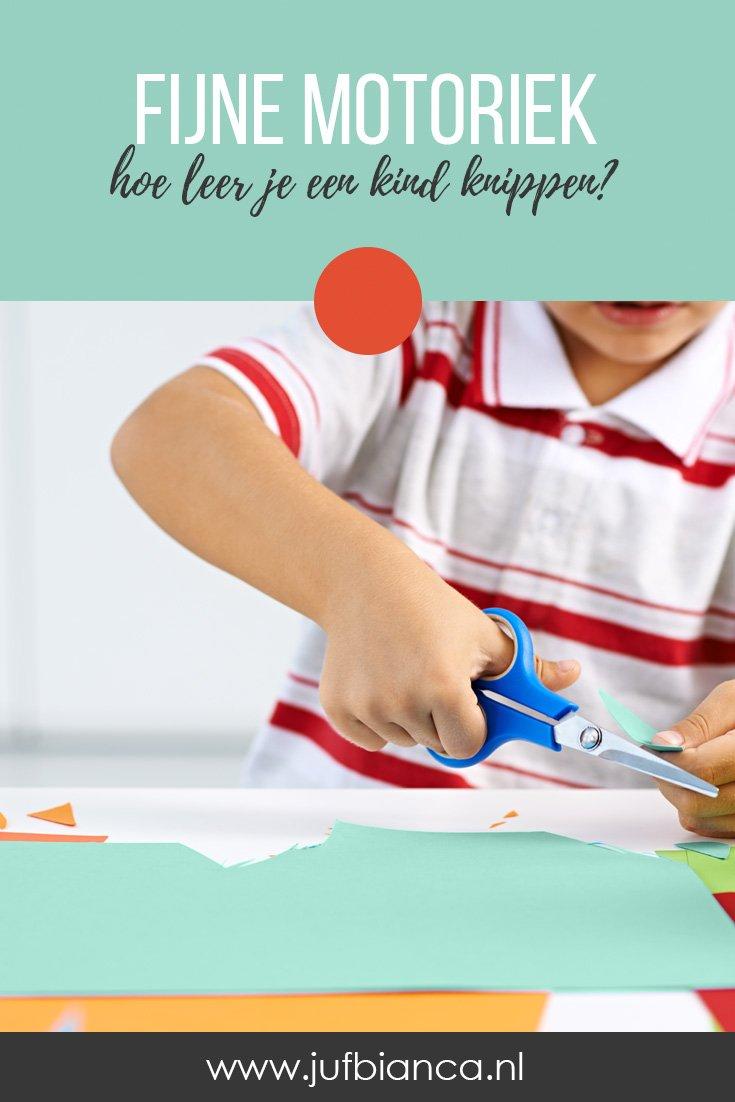 Fijne motoriek - hoe leer je een kind knippen - Juf Bianca