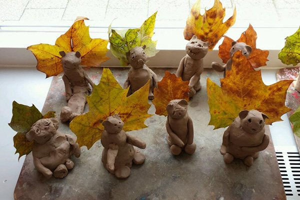 eekhoorntjes klei - Lespakket