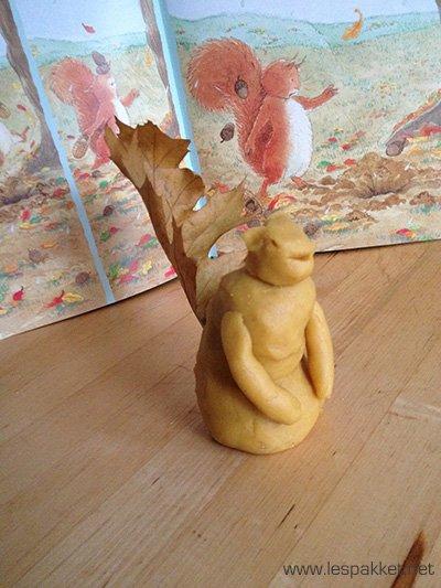 herfst klei eekhoorn - Lespakket