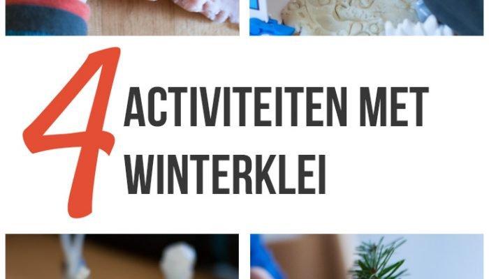 Zelf klei maken: winter klei activiteiten