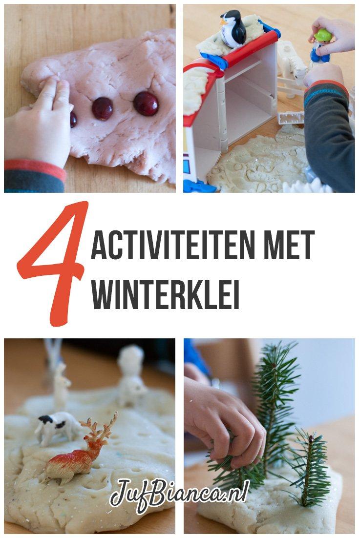 4 activiteiten met winterklei - Juf Bianca