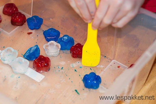 spelen met ijsblokjes - thema winter - Lespakket