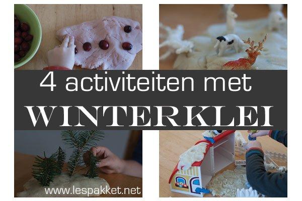 zelf klei maken - 4 activiteiten met winterklei - Lespakket
