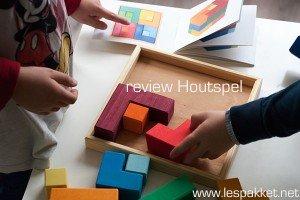 Review Houtspel - vierkant puzzelblok - Lespakket