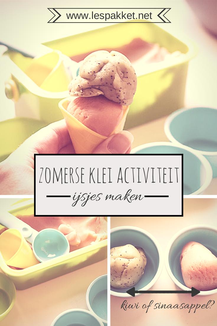 Zelf klei maken: ijsjes maken van klei