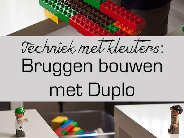 Bekend Techniek met kleuters: bruggen bouwen met Duplo | JufBianca.nl SA97