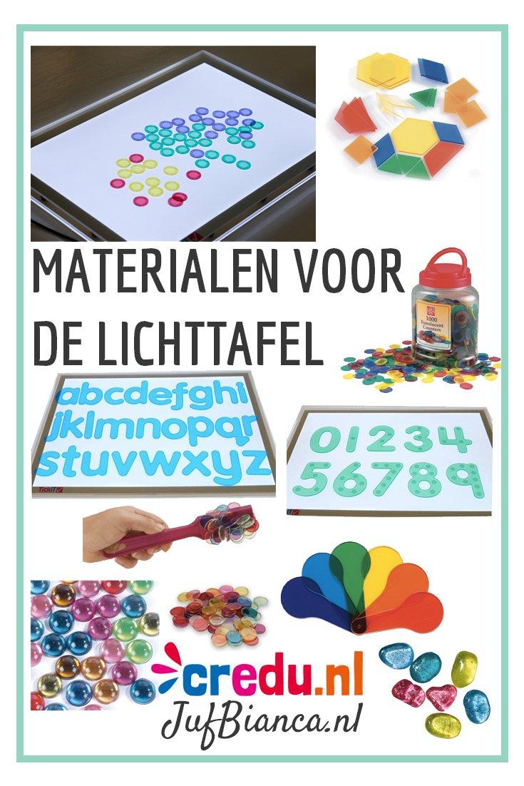 Materialen voor de lichttafel - te bestellen bij credu