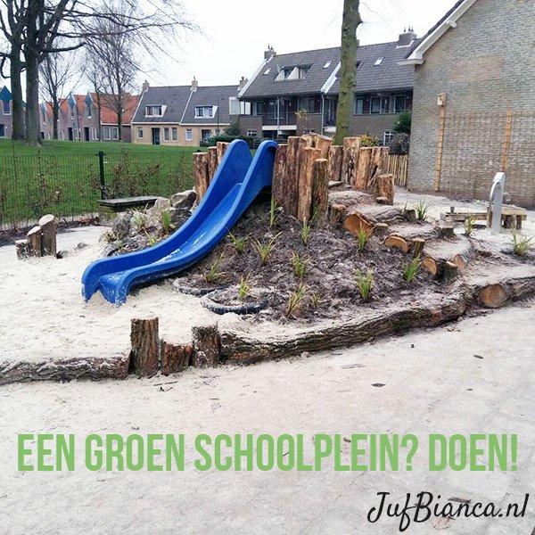 Een groen schoolplein - zo krijg je het voor elkaar - Juf Bianca 2