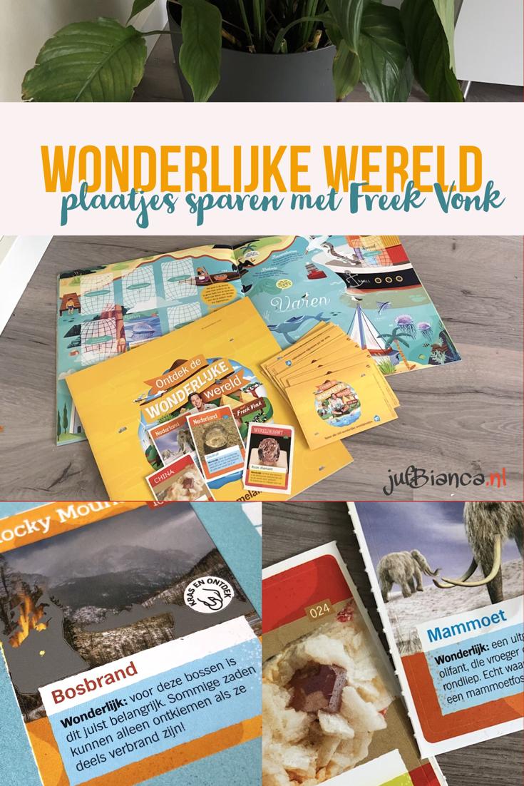 Wonderlijke wereld - plaatjes sparen met Freek Vonk - Juf Bianca