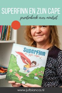 SuperFinn en zijn cape - prentenboek over mindset - Juf Bianca