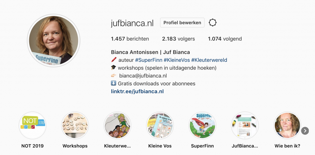 Juf Bianca Instagram NOT 2019